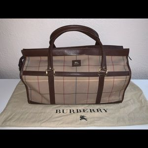 Authentic vintage Burberry's of London mini duffle